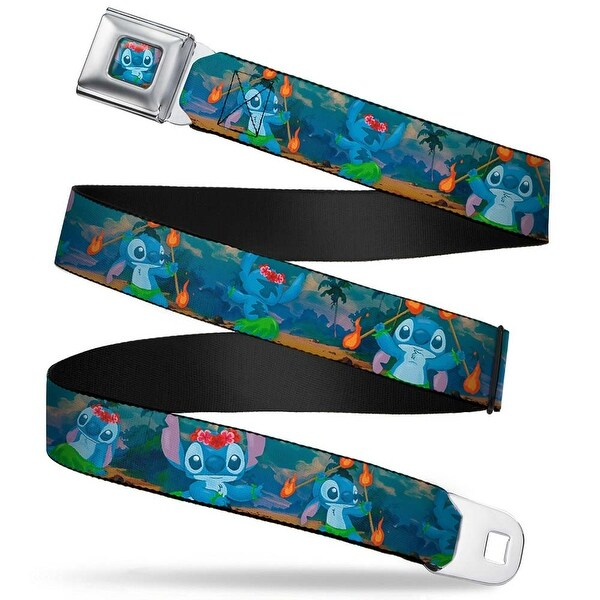 Stitch Hula Pose Full Color Stitch Hula Dance 5 Poses Webbing Seatbelt Belt Seatbelt Belt