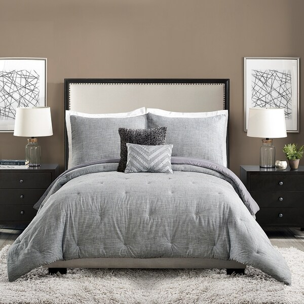 Ayesha Curry Strie Texture 5 Pieces Comforter Set. Opens flyout.