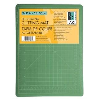 """Art Alternatives - Self-Healing Cutting Mat - 9"""" x 12"""" - Double-Sided Green/Black"""