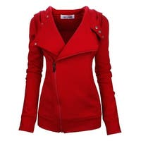Tom's Ware Cherry Red Womens Size Medium M Zip-Front Hooded Jacket