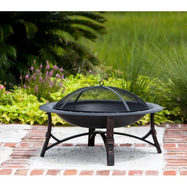 Fire Sense Roman Fire Pit #60857 - Black