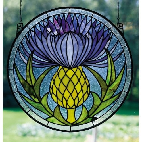 Meyda Tiffany 28436 Stained Glass Tiffany Window from the Woodland Flowers Collection