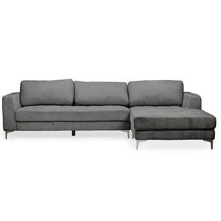 Agnew Light Beige Microfiber Right Facing Sectional Sofa