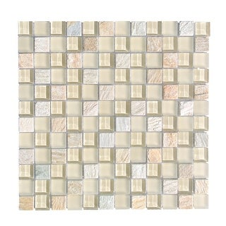 "Miseno MT-EARTH1SQ  Earth - 1"" X 1"" - Glass Visual - Wall Tile (Sold by Sheet)"
