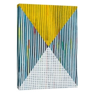 """PTM Images 9-108845  PTM Canvas Collection 10"""" x 8"""" - """"Lenticular I"""" Giclee Abstract Art Print on Canvas"""
