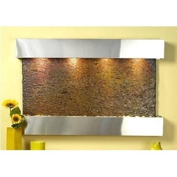 Adagio Sunrise Springs Wall Fountain Rajah Solid Slate Stainless Steel - SSS2004