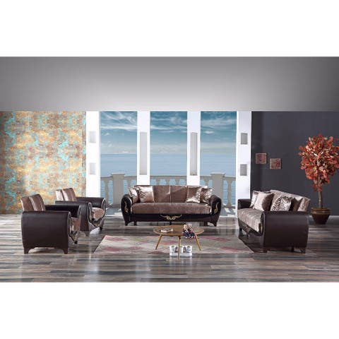 DiscountWorld Everly Love Seat Brown