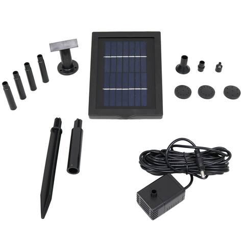 """Sunnydaze Solar Pump and Solar Panel Kit - 5 Spray Heads - 40 GPH - 24"""" Lift"""