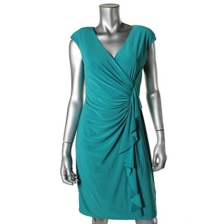American Living Womens A-Line Gathered Cocktail Dress
