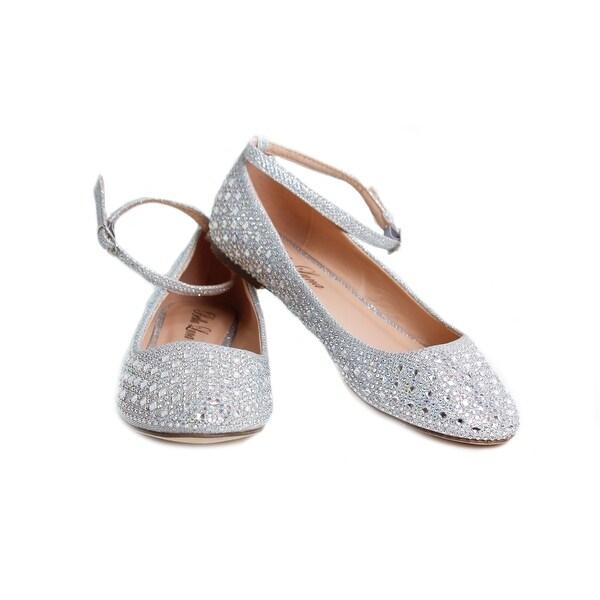 Embellished Ankle Strap Ballet Flat