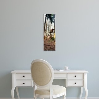 Easy Art Prints Panoramic Images's 'Lookout tower in forest, Hochwald, Germany' Premium Canvas Art