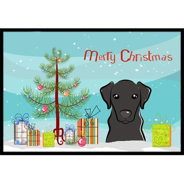 christmas tree black labrador indoor or outdoor mat - Labrador Outdoor Christmas Decoration