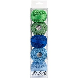 Lizbeth Specialty Pack Cordonnet Cotton Size 10 5/Pkg-Lagoon Mix
