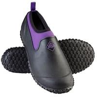 Muck Boot's Muckster II Low Black/Purple Boot w/ Airmesh Lining - Womens Size 8