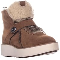 Coach Urban Hiker Wedge Laceless Ankle Boots, Saddle/Natural - 8.5 us