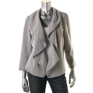 Calvin Klein Womens Open Front Pattern Blazer - 12