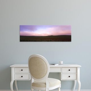 Easy Art Prints Panoramic Images's 'Clouds over a field, dawn, Iowa' Premium Canvas Art