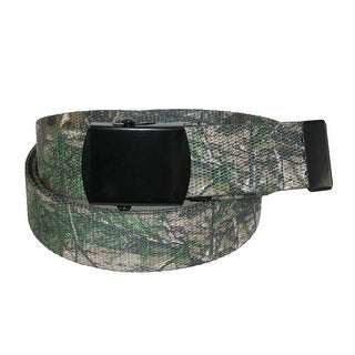 CTM® Men's Big & Tall Fabric Adjustable Belt with Realtree Camo Print
