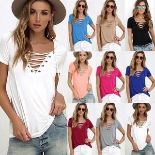 Soft Lace Up Style Shirt