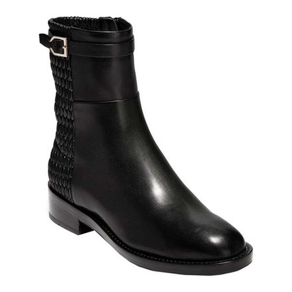 52f314c84d9f6 Cole Haan Women's Lexi Grand Stretch Strap Bootie Black Leather/Weave