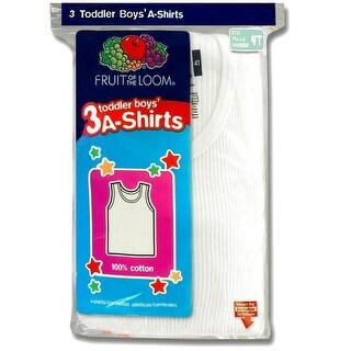 Fruit of the Loom Boys 2T-4T A-Shirt - 3 Pack