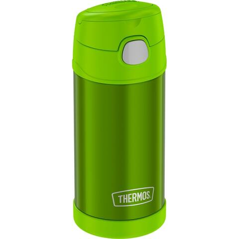 Thermos funtainer ss insulated straw bottle 12oz lime