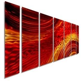 Statements Red / Earthtone Metal Wall Art Painting by Jon Allen - Harvest Moods II