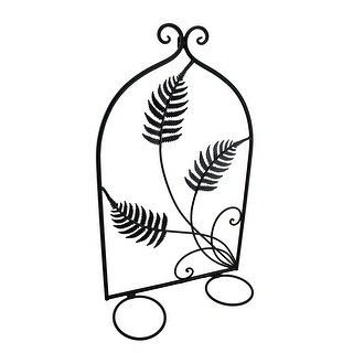 Triple Fern Leaf Decorative Metal Double Wall Planter