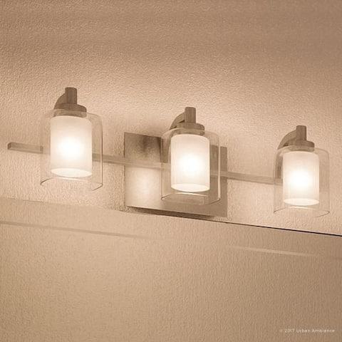 "Luxury Modern Bathroom Vanity Light, 6""H x 21""W, with Posh Style, Brushed Nickel Finish - 6"" H, 21"" W, 6.5"" Dep"