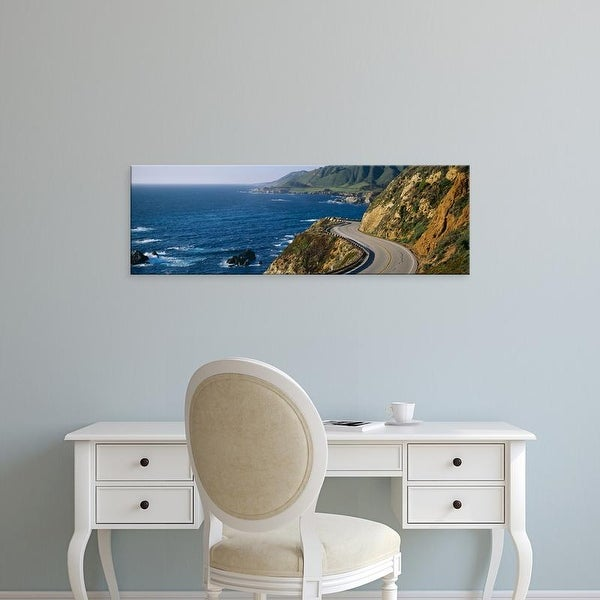 Easy Art Prints Panoramic Image 'View of a highway, California State Route 1, Big Sur, California, USA' Canvas Art