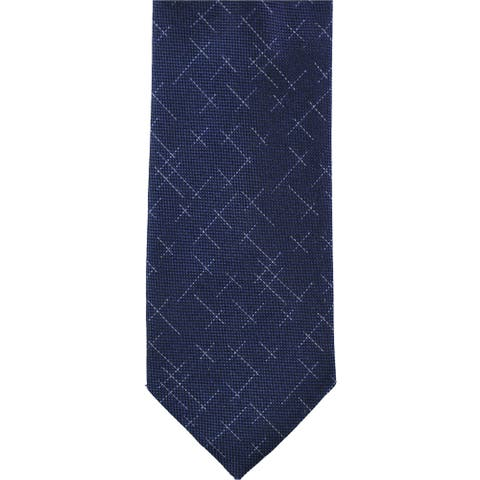 Alfani Mens Patterened Self-tied Necktie, blue, One Size - One Size