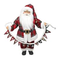 "18"" Santa Claus Holding a ""Merry Christmas"" Banner Tabletop Decoration"