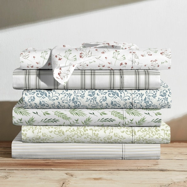 Brielle Home Cotton Percale Printed Sheet Set. Opens flyout.