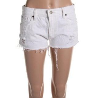 Denim & Supply Womens Mid-Rise BoyFriend Cut Off Denim Shorts - 30