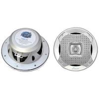 "Lanzar 6.5"" 2-Way Marine Speakers 400W. Silver"