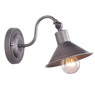 Antique swing arm wall sconce, antique industrial rustic wall light fixture
