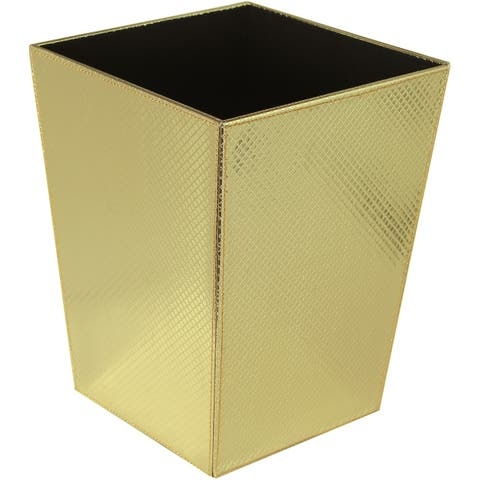 WS Bath Collections Ecopelle 2203 Ecopelle Leather Waste Basket