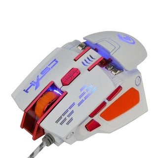 7D Buttons 4000DPI Optical Wired Gaming Mouse - White