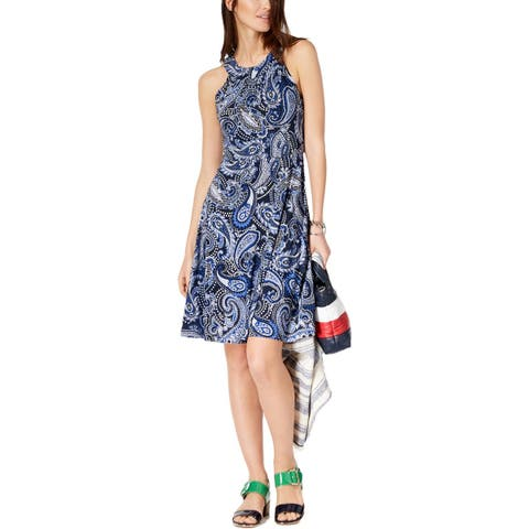 e36d94d86e Tommy Hilfiger Womens Party Dress Sleeveless Printed
