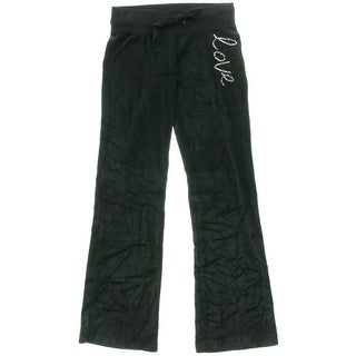 Jenni Womens Juniors Velour Sequined Lounge Pants - XS