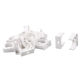 Unique BargainsHome PVC U Shaped Water Supply Pipe Hose Holder Stand Clamps Clips White 18 Pcs