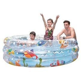 "59"" Ocean Floor Three Ring Inflatable Children's Swimming Pool"