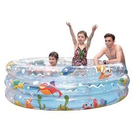 "59"" Ocean Floor Three Ring Inflatable Children's Swimming Pool"