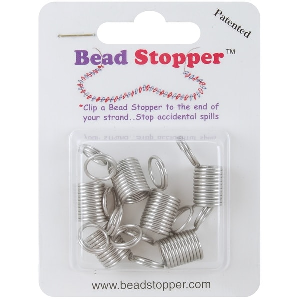 Bead Stoppers 6/Pkg-Metal