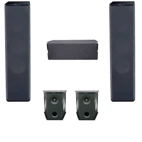 Premier Acoustic 5.0 Home Theater System Bundle with 2 PA-6F Tower Speakers, 2 PA-6S Surrounds, and 1 PA-6C Center Channel Speak