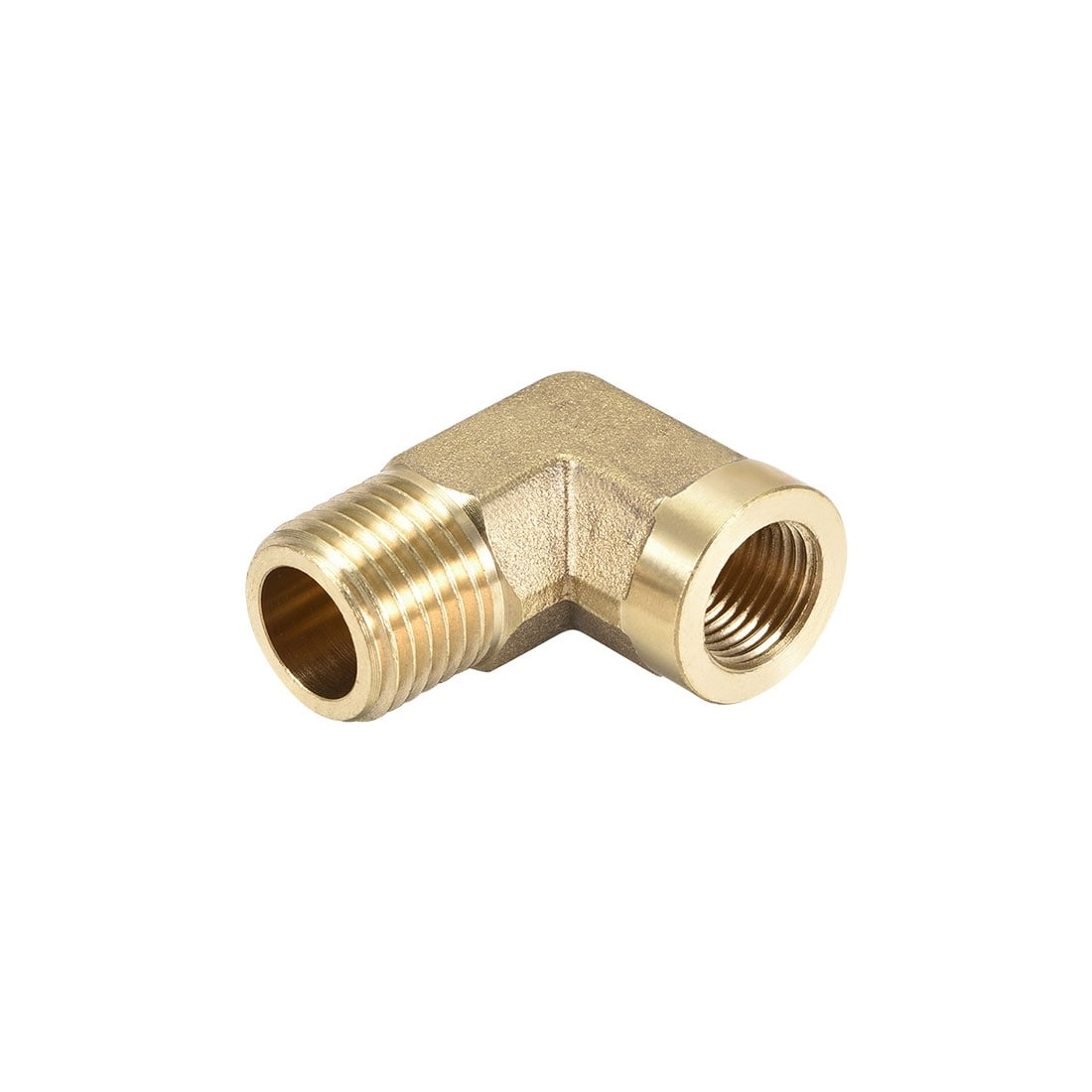 Brass Pipe Fitting 90 Degree Elbow G3//8 Male x G1//2 Male
