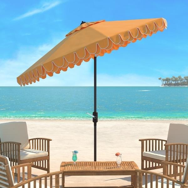 SAFAVIEH Elegant Valance 9 Ft. Umbrella. Opens flyout.