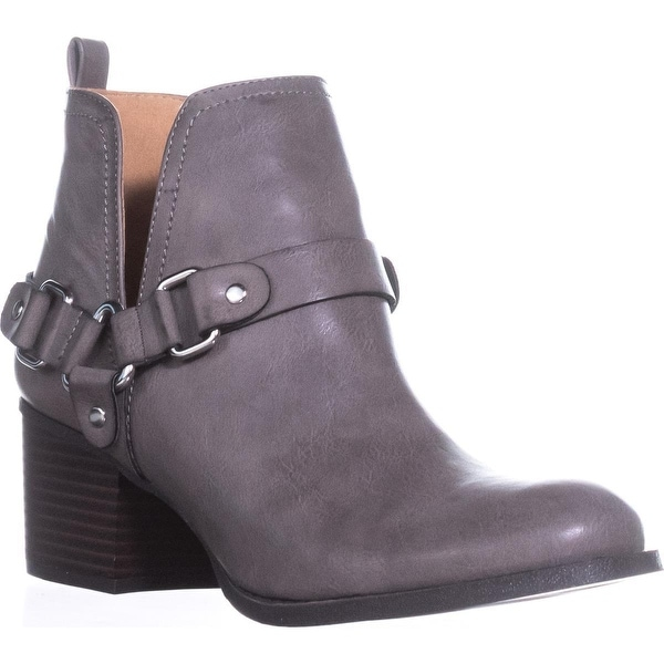 madden girl Finian Pull On Ankle Boots, Dark Grey - 8 us