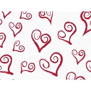 "Curly Swirly Hearts Tissue Paper 120~20""x30"" Half Ream Tissue Prints"