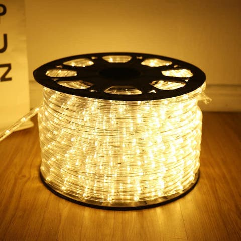 SUNCROWN 150FT LED String Lights Rope Light Kit 2-Wire Waterproof